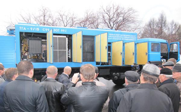 Демонстрация станции азотного пожаротушения ТГА-9/15 С99